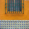 Colorful Old Window and Tile Bench #3 - Seville, Spain