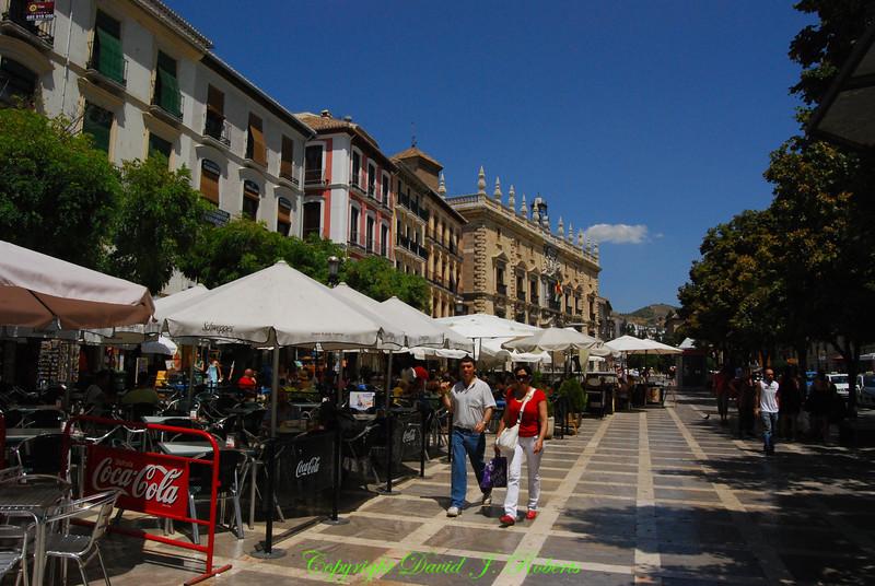 Plaza Santa Anna in Grenada, Spain
