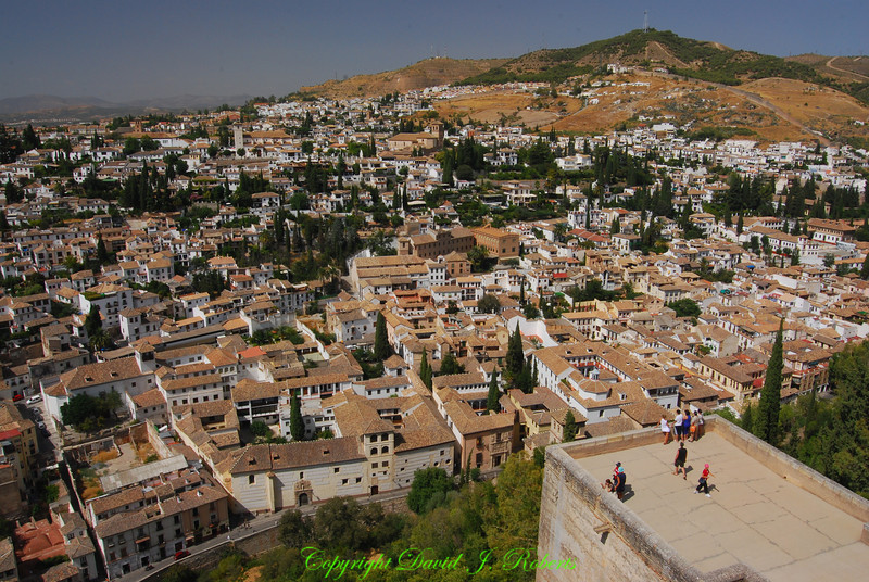 Grenada as seen from the Alhambra, Spain
