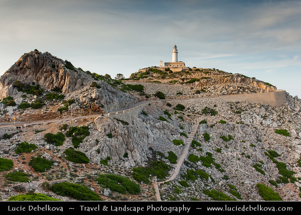 Europe - Spain - Balearic Islands archipelago - Majorca - Mallorca - Cap de Formentor - Meeting point of the winds - Spectacular place located on the northernmost point of the Balaeric Island Majorca