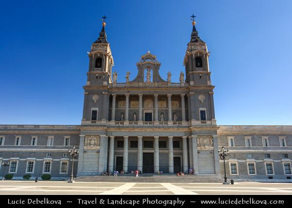 Europe - Spain - España - Madrid - Santa María la Real de La Almudena - Catholic cathedral & seat of the Roman Catholic Archdiocese of Madrid -