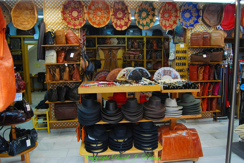 Leather shop, Cordoba, Spain