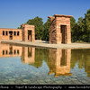 Europe - Spain - España - Madrid - Temple of Debod - Templo de Debod - Spanish Property of Cultural Interest - Ancient Egyptian temple rebuilt in Madrid -