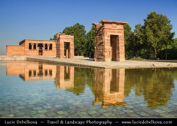 Europe - Spain - España - Madrid - Temple of Debod - Templo de Debod - Spanish Property of Cultural Interest - Ancient Egyptian temple rebuilt in Madrid -