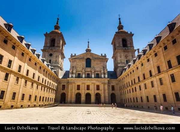 Europe - Spain - España - El Escorial - UNESCO World Heritage Site - Royal Site of San Lorenzo de El Escorial - Historical residence of the King of Spain - One of Spanish royal sites - monastery & royal palace