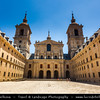 Europe - Spain - España - El Escorial - UNESCO World Heritage Site - Royal Site of San Lorenzo de El Escorial - Historical residence of the King of Spain - One of Spanish royal sites - monastery & royal palace