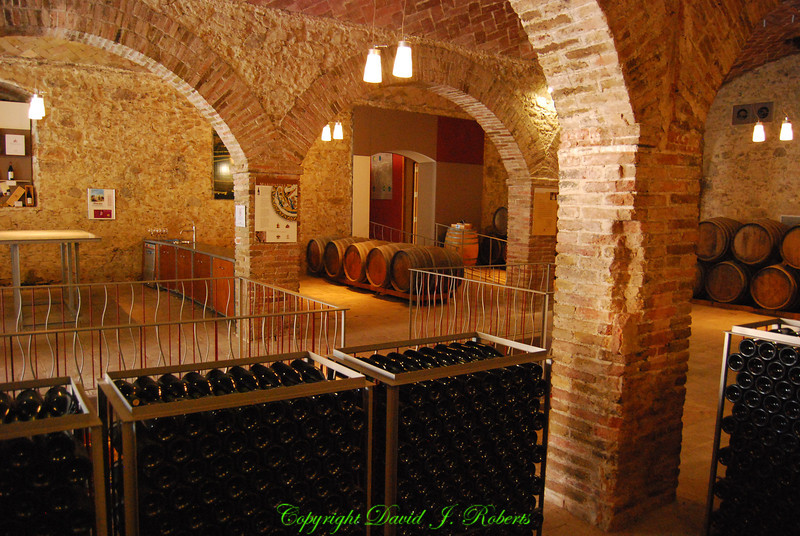 Wine making at the Poblet Monestary, Spain