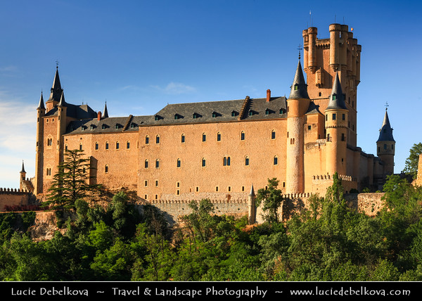 Europe - Spain - España - Castile and León - Segovia - UNESCO World Heritage Site - Alcazar of Segovia - Royal palace located on top of a rock between the rivers Eresma and Clamores