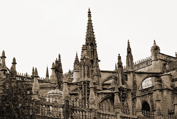 Cathedral of Seville with Buttresses #2s - Seville, Spain