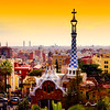 View of Barcelona from Gaudi's Guell Park #1 - Barcelona, Spain