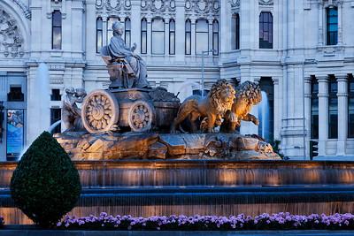 Madrid, Spain  Cibeles Fountain on  Plaza de Cibeles in Madrid.