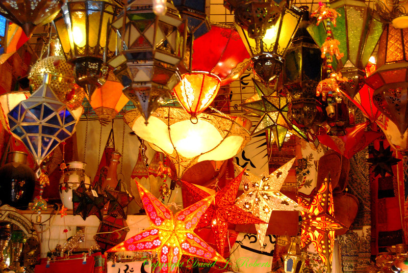 Lamp shop, Albaicin, Grenada, Spain