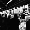 Las Ramblas Newsstand, Street Scene Nocturne #7a - Barcelona, Spain