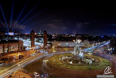 Plaça de Espanya i Montjüic