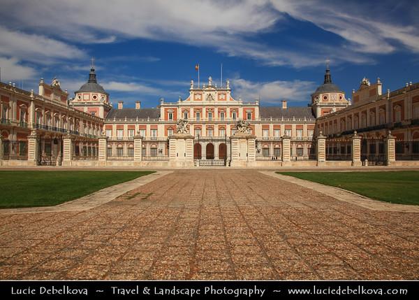 Europe - Spain - España - Madrid Province - Aranjuez - UNESCO World Heritage Site - Royal Palace of Aranjuez - Palacio Real de Aranjuez - Residence of the King of Spain & One of Spanish royal sites