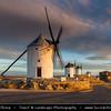 Europe - Spain - España - Castile-La Mancha - Toledo Province - Consuegra - Famous Iconic Spanish Windmills