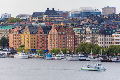 Buildings along the waterfront of Kungsholmen.