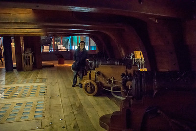 Recreation of the gun deck of the Vasa.