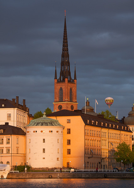 Hot air ballons over Gamla Stan.