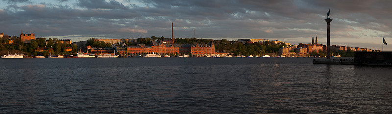 Sunset over Sodermalm.