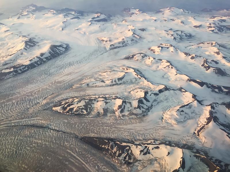 Midnight sun over Spitsbergen