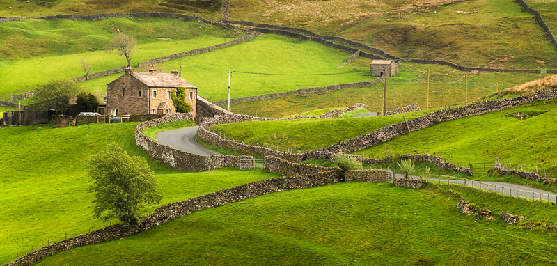 Upper Swaledale near Keld in the Yorkshire Dales,  England