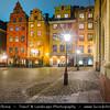 Europe - Scandinavia - Kingdom of Sweden - Sverige - Stockholm - Old Town - Stortorget place in Gamla stan - Night