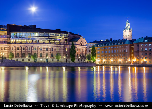 Europe - Scandinavia - Kingdom of Sweden - Sverige - Stockholm - Old Town - Histocial city center on shore of Northern Baltic Sea