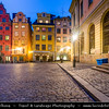 Europe - Scandinavia - Kingdom of Sweden - Sverige - Stockholm - Old Town - Stortorget place in Gamla stan - Night - Twilight - Dawn