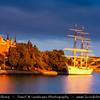 Europe - Scandinavia - Kingdom of Sweden - Sverige - Stockholm - Old Town - Chapman ship at shores of Northern Baltic Sea