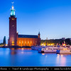 Europe - Scandinavia - Kingdom of Sweden - Sverige - Stockholm - Old Town - Kungsholmen island - Stockholm City Hall - Stadshuset