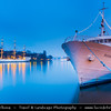 Europe - Scandinavia - Kingdom of Sweden - Sverige - Stockholm - Old Town - Illuminated ship at Night