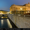 Europe - Scandinavia - Kingdom of Sweden - Sverige - Stockholm - Helgeandsholmen - The Riksdag building - the House of Parliament and the North Bridge - Riksdagshuset and Norrbron - at Dusk - Blue Hour - Twilight‏
