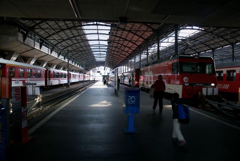 Lucern train station.
