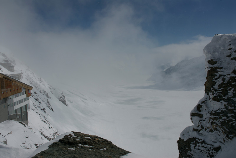 View of the Glacier at Jungfraujoch