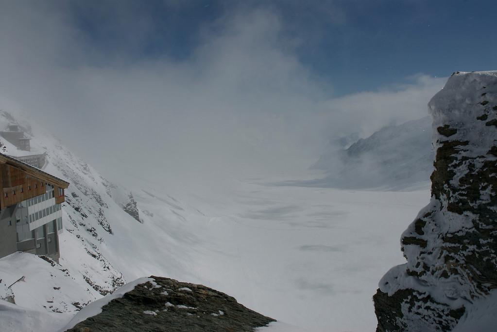 View of the Glacier at Jungfraujoch