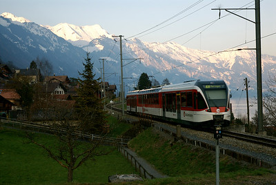 Regional Train. One that we almost to took daily to Interlaken Ost. March 26th