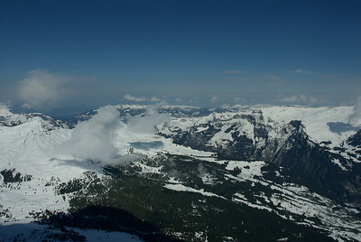 View from Eigerwand. Train stopped here for 5 mins. 9400ft.