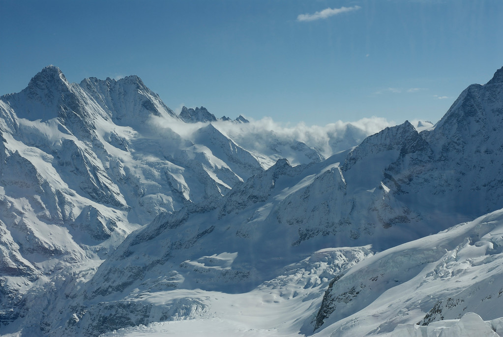 On the way to Jungfrau March 27th.<br /> Eismeer 10368ft
