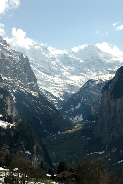 View of the Lauterbrunnen Valley from the train back from Kleine Scheidegg. March 27th