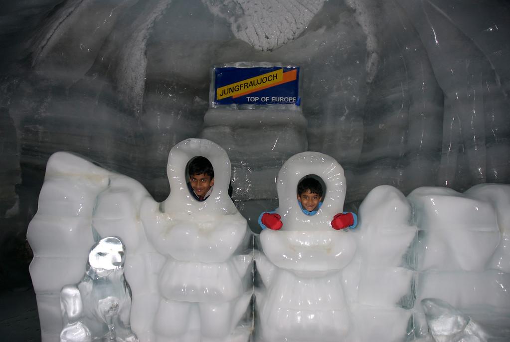 Ice caves at Jungfraujoch
