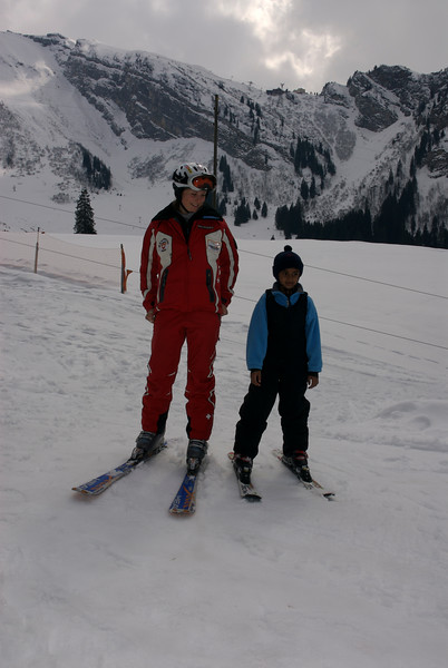 Keshav on Skis.