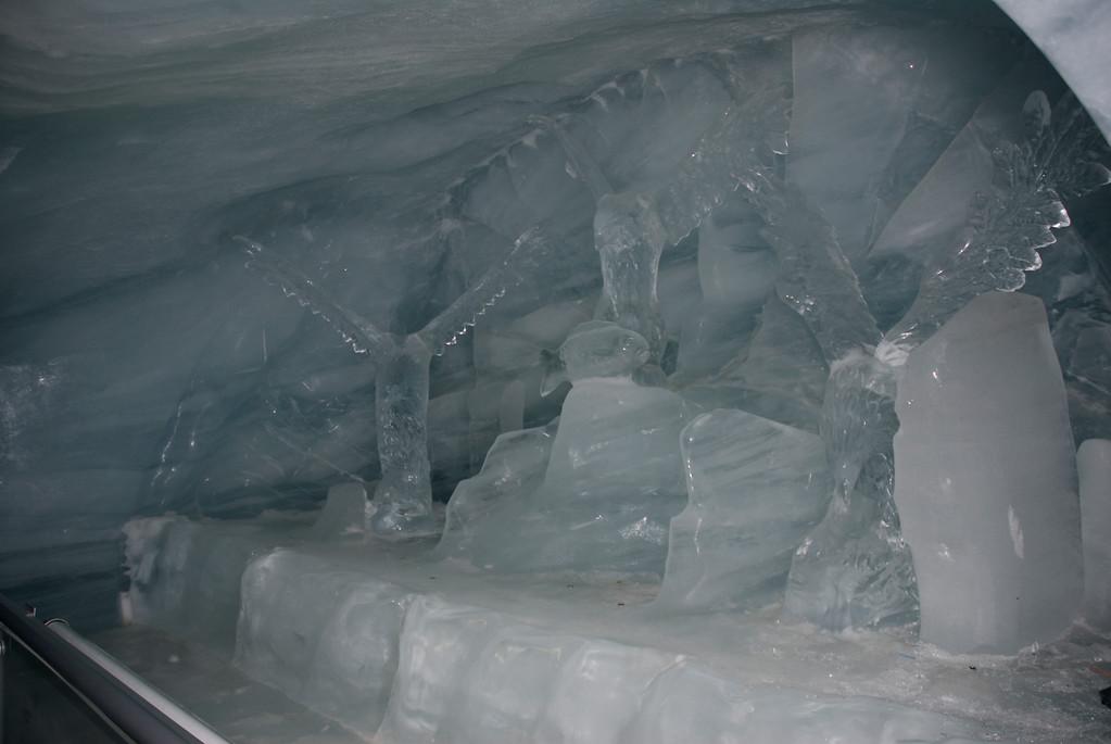 Ice sculptures at Jungfraujoch