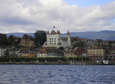 The Town of Nyon, Lake Geneva, Switzerland