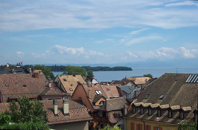 Rooftops over Lake Geneva