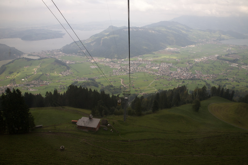Views from cable car, Mt Stanserhorn