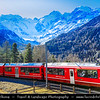 Europe - Switzerland - Swiss - Graubünden Canton - Grisons - Alps - Alpen - Alpi - Alpes - Great Mountain Range in Europe - Morteratsch Glacier - Largest glacier by area in the Bernina Range of the Bündner Alps