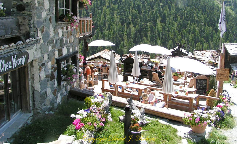Chez Vrony Restaurant, Findeln, Zermatt, Switzerland