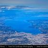 Europe - Switzerland - Swiss - Alps - Alpen - Alpi - Alpes - Great Mountain Range in Europe - Geneva - Genève - Genf - Ginevra - Lake Geneva - Lac Léman - View from Above