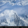 Europe - Switzerland - Swiss - Aerial view over Alps - Alpen - Alpi - Alpes - Great mountain range of Europe under snow cover at its peaks